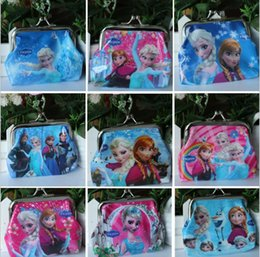 Wholesale Mini Bags Childrens - hot movie Cartoon Wallet Frozen Elsa Anna Girls Kids Coins Boxes Purse Money Pouch Bag for Childrens Gift