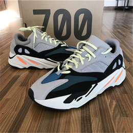 red athletic Promo Codes - 700 Runner 2018 New Kanye West Mauve Wave Mens Women Athletic Best Quality 700s Sports Running Sneakers Shoes 40-46 With Box
