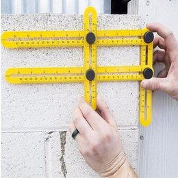 Wholesale Tile Tools Wholesale - Angle-izer Multi-Angle Ruler Measuring Instrument Template Tools Four-Sided Ruler All Angel Forms For Handymen Builders Craftsmen 3004015