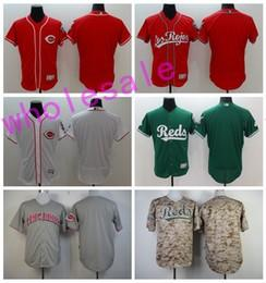 Wholesale Wholesale Jersey Pullover - Cheap Cincinnati Reds Blank Jerseys Stitched Baseball Throwback Personalized Any Name and Number Flexbase Cool Base Pullover White Grey