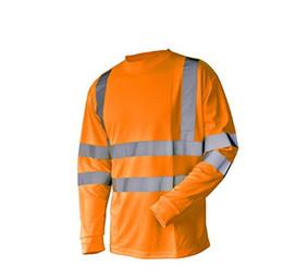 Wholesale Orange Class - L&M Hi Vis T Shirt ANSI Class 3 Reflective Safety Lime Orange Short Long Sleeve HIGH VISIBILITY
