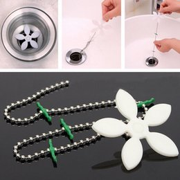 Wholesale Home Cleaning Tools - Home Bathroom Shower Drain Wig Chain Cleaner Hair Clog Remover Cleaning Tool