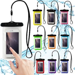Wholesale Wholesale Iphone Goophone - Waterproof Phone Pouch Outdoor Use Anti-Water Water Resistant for Iphone Nokia Goophone Samsung Huawei Xiaomi Vivo Free Shipping