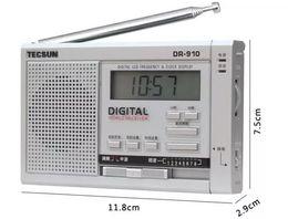 Wholesale mini external speaker - Wholesale-TECSUN DR-910 FM-MW-SW Radio World Receiver Portable Mini Digital Clock Radio With Built-In Speaker and SW external antenna