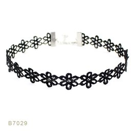 Wholesale Black Pearl Jewelry Leather - (10 pcs lot) Black Lace Black Pearl Lace Leather Boho Bohemia Statement Choker Necklaces Set for Women Men Gift Collar Jewelry Dog Collar