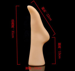 Wholesale Female Mannequin Foot - Freeshipping, foot Mannequin New arrival Skin and white color Glossy Female Mannequin Foot Sock Display ,one piece left foot,M00538