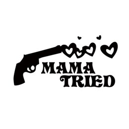 Adesivi per pistola online-Nuovo stile per mamma Provato Gun Car Styling Decalcomania Decalcomania Vinyl Sticker JDM Accessori per Window Car Grafica