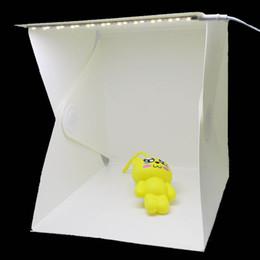 """Wholesale Backdrops Led Lighting - 240*230*226mm   7.2""""x6.9""""x6.8"""" Portable Mini Light Box Photography Backdrop built-in LED Light Photo Studio Box"""