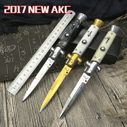 Wholesale Christmas Camps - 7 model optional 9 inches AKC Italian Mafia switchblades outdoors, hunting knife survival knife 1 PSC freeshipping Christmas gifts to men