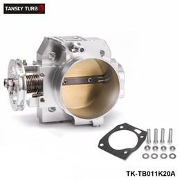 honda b series Desconto Tansky-alta coletor de admissão de prata de alumínio de fluxo 70mm throttle body billet desempenho para honda k20a tk-tb011k20a