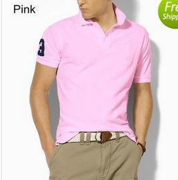 Wholesale White Bow Coat - 2017 Summer Hot Sale Polo Shirt Brand Men Short Sleeve Sport Polo 309# Man Coat Drop Free Shipping