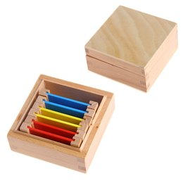 Wholesale Montessori Materials Wholesale - Wholesale- 2017 Montessori Sensorial Material Learning Color Tablet Box 1 Wood Preschool Toy MAY2_35