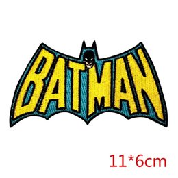 Wholesale Men Cloth Wholesale - Justice in the dark ,Bat Man, embroidery patches iron on hot cut border use in cloth hat or bag ,customized