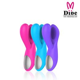 Wholesale G Spot Clamp Vibrator - DIBE USB Vibrator Magic Wand Clitoris Stimulator Nipple Clamp Vibrator Massager Adult Sex Products Vibrator Sex Toys for Women