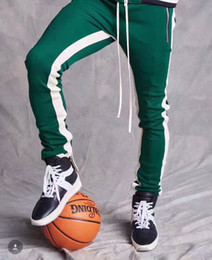 Wholesale 2017 New Green Colour Delivery Now Fear Of God Fifth Collection FOG Justin Bieber side zipper casual sweatpants men hiphop jogger pants