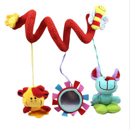 Wholesale Infant Lathe Hanging Toys - Wholesale- 2015 new infant newborn toys baby crib revolves around the bed bell stroller playing toy crib lathe hanging baby Rattles Mobile