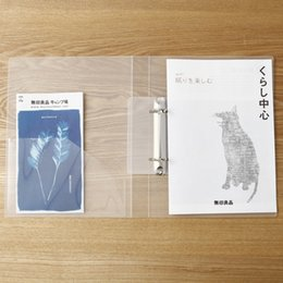 Wholesale A4 Clip File - MUJI Transparent PP 2 Holes Ring Binder Clip File A5 B5 A4 File Folder Japan Wholesale price