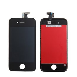 Wholesale Iphone4 Lcd Screen Touch - A+++++ High Quality For iphone 4 4G iphone4 GSM OEM JDF Full Front Glass LCD Display Digitizer Touch Panel Screen Assembly With Frame