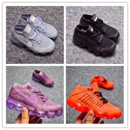 Wholesale Hot Tennis Girl - Children's Shoes Size 26-35 Vapormaxes Boys Girls Running Shoes Trainers Tennis Kids Vapor Maxes Shoe Hot Corss Hiking Jogging Walking Shoes