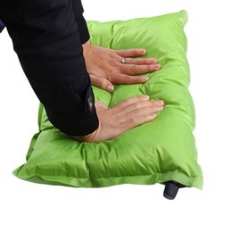 Wholesale Inflatable Store - Wholesale- 2016 Automatic Inflatable Air Cushion Pillow Portable Outdoor Travel Worldwide Store