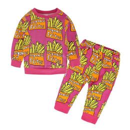 2020 chándal niño al por mayor Venta al por mayor 2017 niños niñas frites chándal bebé dos piezas de ropa niño otoño establece niños suéter y pantalones traje para 80-110 chándal niño al por mayor baratos