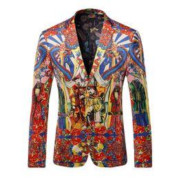 Wholesale Chinese Style Coat Men - Wholesale- Blazer Men 2017 Luxury Brand Red Velvet Blazer Spring Autumn Chinese Style Men Coats And Blazers Fashion Blaser Hombre XXXL Q206