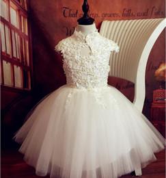 Wholesale Tutu Sellers Line - Best Sellers 2017 New spring Children's wedding dress Princess skirt white flower girl dress skirt dress