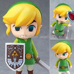 Wholesale Zelda Pvc Figure - The Legend of Zelda Link Nendoroid Zelda Q.ver 413# Boxed PVC Action Figures Toys 10cm