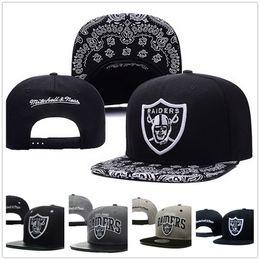 Wholesale Sports Oakland - High Quality & Hotsale Oakland Raider Snap back Caps Men Headgear Women Dicer Black Gray Summer Sport Hats Adjustable Baseball Cap Chapeau