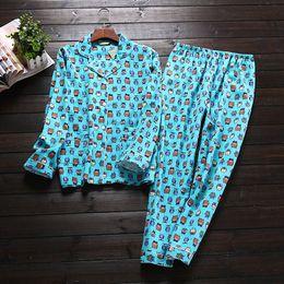 Wholesale Pyjamas Owl - Ladies' pajama sets pyjamas women pajamas woman winter sleepwear female nightwear wholesale pyjama set Owl print plus size BY47