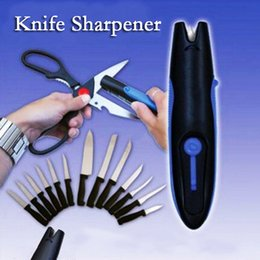 Wholesale Knife Sharpener Kitchen Blade Kitchen Knives Sharpening Tool Serrated Knife Sharpener Tungsten Carbide Sharpe Steel Knives Scissors Tools