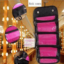 Wholesale Cosmetic Kit Case Bag - Wholesale-2016 NEW Arrival Make Up Cosmetic Bag Case Women Makeup Bag Hanging Toiletries Travel Kit Jewelry Organizer Cosmetic Case