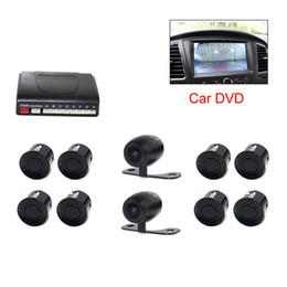 spiegel rückfahrkamera vorne Rabatt Auto DVR Video Parksensor PZ600-8 8 Sensoren 2 Kamera vorne hinten TFT LCD DVD Rückspiegel Monitor BIBI Barrier Abstand