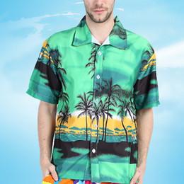 Wholesale Mens Beach Shirt Xl - Wholesale- Large Size 2017 New Arrival Mens Hawaiian Shirt Couple's Casual camisa masculina Printed Beach Shirts Short Sleeve Male Y2365