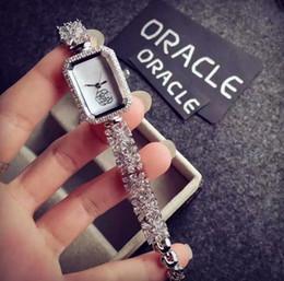 Wholesale Tungsten Watch Chain - Fashion Dress Flower Chain Diamond Quartz Watch AAA luxury Woman Lady watches Gold Silver Brand Wrist Watch Gift Free Shipping