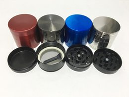 Wholesale Mini Cnc Parts - 1pc 40MM CNC 4 Parts Smoking Herb Grinder Zinc Alloy Metal 6 Colors Spice Pollen Mini Hand Muller Crusher Wholesale Cheap Grinder