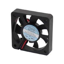 Wholesale dc 12v brushless cooling fan - Wholesale- CAA-New Plastic DC 12V 2 Pins Connector Brushless Cooling Fan 50mm x 50mm x 10mm