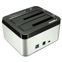 "Wholesale-  SEATAY Universal 1pcs 2.5"" 3.5"" USB 3.0 Dual SATA HDD Enclosure Caddy Case Hard Drive Disk HDD Dock Docking Station от"