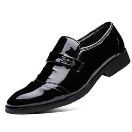 Wholesale Pleated Dress Rhinestones - HOT HOT NEW Arrival Maserati Men's Fashion Shine High Quality Leather Shoes Wedding Dress Shoes for Men Black Color W8706