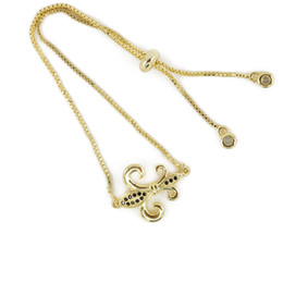 Wholesale Brass Anchor Charm - New Design Sparkly Gold Jewelry Bracelet CZ Micro Pave Chain Bracelet with Anchor Shape Charm ICSL226
