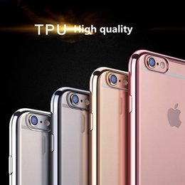 Wholesale Iphone Tpu Design Case - colorful design TPU Electroplating Case phone cover Ultra Thin Soft TPU case for Iphone 6 6s 7 7 plus samsung S8 s8+ S7 S7 edge S6 S6 edge