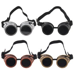 Wholesale Victorian Punk - Goggles Steam punk Glasses Vintage Retro Welding Punk Victorian for bike free shipping