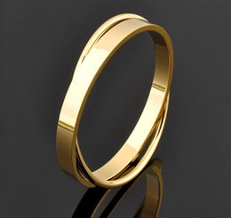 Wholesale Custome Jewelry - China Factory Custome Fashion Jewelry Plain Golden Bangle Designs