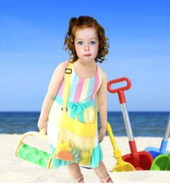 Wholesale Pouches Net Bags - Kids Beach Toys Receive Bag Mesh Sandboxes Away All Sand Child Sandpit Storage Shell Net Sand Away Beach Mesh Pouch