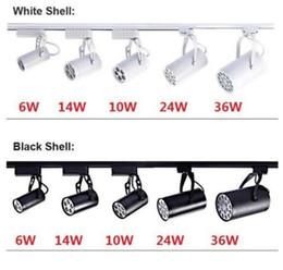 12w ha portato le tracce online-Faretto a binario a LED bianco nero 3W 5W 7W 9W 12W 15W 18W Illuminazione Natural Cool Warm White Faretti a soffitto a Led AC 85-265V MYY