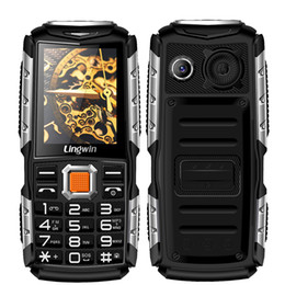 Wholesale Mp4 Player Mobile Phones - Lingwin N2 2.4 Inch Outdoor Shockproof Rugged Feature Mobile Phone 3100mAh Power Bank Function Dual Flash Light FM Radio MP4