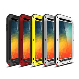 Wholesale Red Gorilla - LOVE MEI Heavy Duty Waterproof Explode Proof Drop Resistance Corning Gorilla Glass Metal Hard Case Cover For Samsung Galaxy Note 5