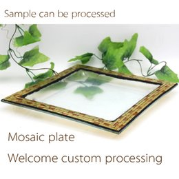 Wholesale Supply stable plate festival activities are Home Furnishing mosaic decoration promotional gifts holiday gift products exports