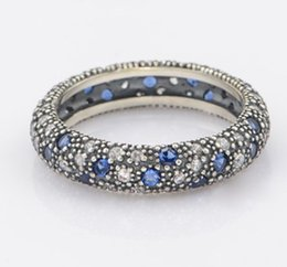 Wholesale Band Cherry - 2016 New Elegant Pandora Ring Daisy Flower Cherry Crystal Ring finger Joint For Women Wedding Jewelry Set Fashion Bride lover Jewelry Sets