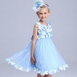 Wholesale Show Girls Dresses - Flower fairy princess dress, Cinderella girl dress, children wedding dress, summer new show dress free shipping